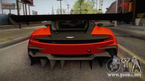 Aston Martin Vulcan para la visión correcta GTA San Andreas