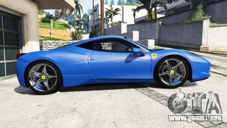 GTA 5 Ferrari 458 Italia v2.0 [replace] vista lateral izquierda