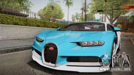 Bugatti Chiron 2017 para la vista superior GTA San Andreas