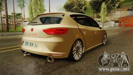Seat Leon FR para GTA San Andreas vista posterior izquierda