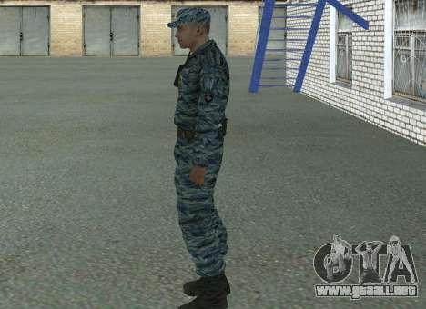 Policías antidisturbios (verano) para GTA San Andreas segunda pantalla