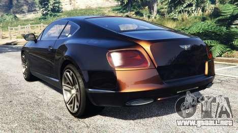 GTA 5 Bentley Continental GT 2012 [replace] vista lateral izquierda trasera