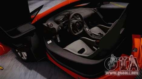 McLaren 675LT 2015 5-Spoke Wheels para GTA San Andreas vista posterior izquierda