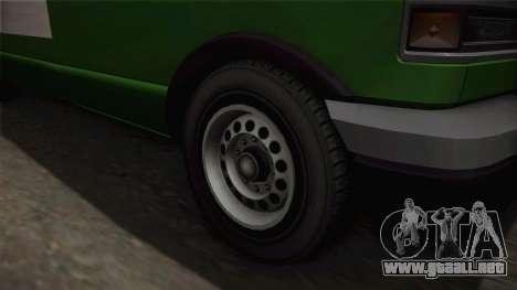 GTA 4 Burrito para GTA San Andreas vista hacia atrás