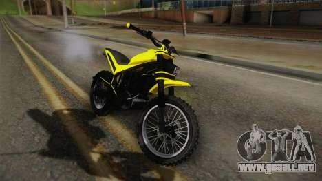 GTA 5 Epic Maibatsu Manchez para GTA San Andreas vista posterior izquierda