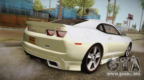 Chevrolet Camaro Synergy para GTA San Andreas left