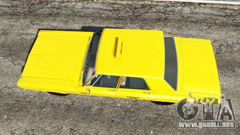 GTA 5 Plymouth Belvedere 1965 Taxi [replace] vista trasera