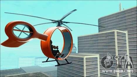 Futuristic Helicopter para GTA San Andreas left
