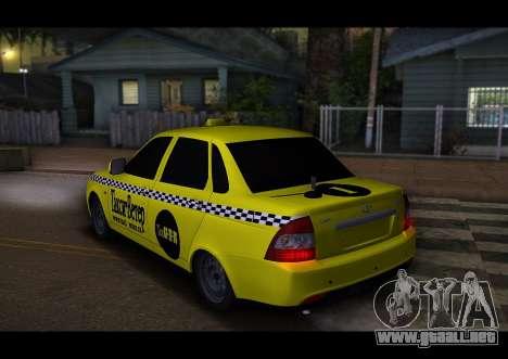 Lada Priora Taxi-El Viento para la visión correcta GTA San Andreas