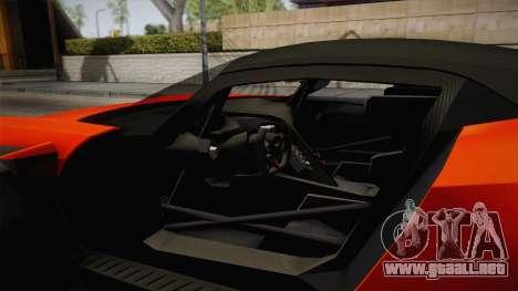 Aston Martin Vulcan para visión interna GTA San Andreas