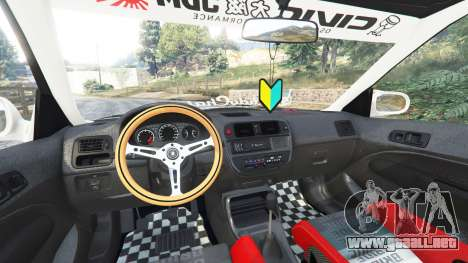 GTA 5 Honda Civic EK9 [kanjo edition] [replace] vista lateral derecha