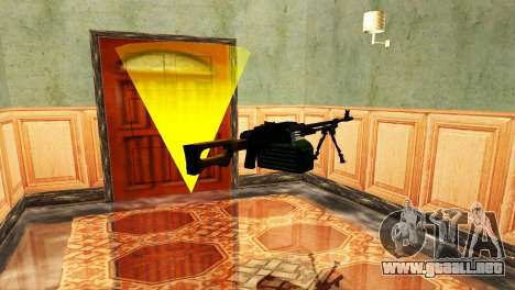 PKM Negro para GTA San Andreas sexta pantalla