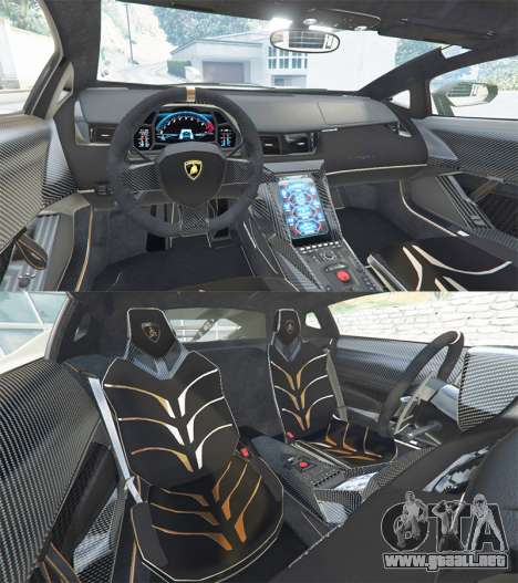 GTA 5 Lamborghini Centenario LP770-4 2017 v1.3 [r] vista lateral trasera derecha
