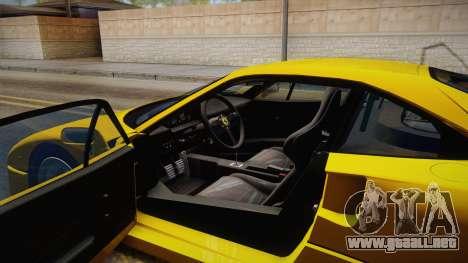 Ferrari F40 (EU-Spec) 1989 IVF para visión interna GTA San Andreas