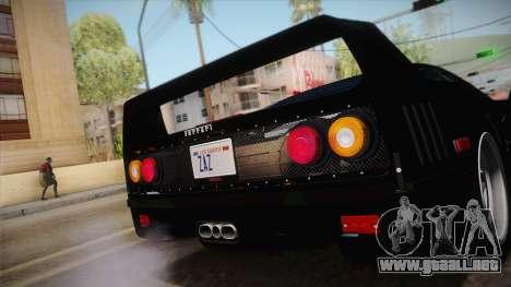 Ferrari F40 (US-Spec) 1989 IVF para la visión correcta GTA San Andreas