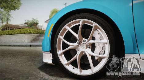 Bugatti Chiron 2017 para GTA San Andreas vista posterior izquierda