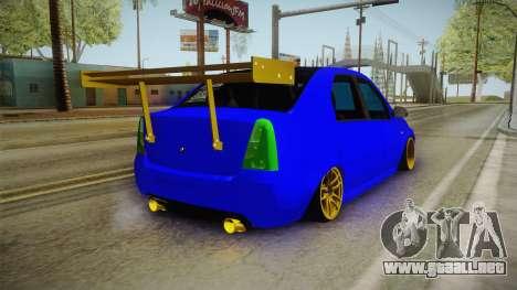 Dacia Logan Stance Haur Edition para GTA San Andreas vista posterior izquierda