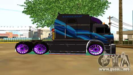 Kamaz 54112 TANKER TURBO para GTA San Andreas left