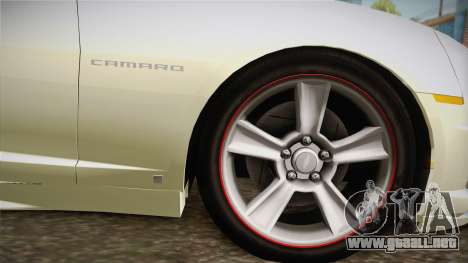 Chevrolet Camaro Synergy para GTA San Andreas vista posterior izquierda