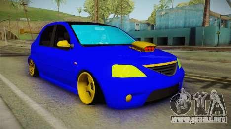 Dacia Logan Stance Haur Edition para la visión correcta GTA San Andreas