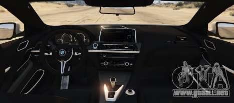 GTA 5 BMW M6 F13 Coupe 2013 vista lateral izquierda trasera