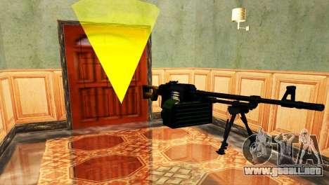 PKM Negro para GTA San Andreas quinta pantalla