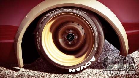 GTA 5 Nissan Skyline GT-R C110 Liberty Walk [replace] vista lateral trasera derecha
