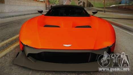 Aston Martin Vulcan para GTA San Andreas vista posterior izquierda