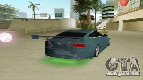 AUDI A7 SPORTS para GTA Vice City vista lateral izquierdo