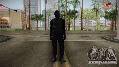 GTA 5 Heists DLC Male Skin 1 para GTA San Andreas segunda pantalla