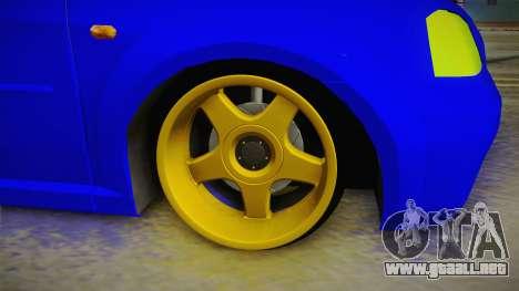 Dacia Logan Stance Haur Edition para GTA San Andreas vista hacia atrás