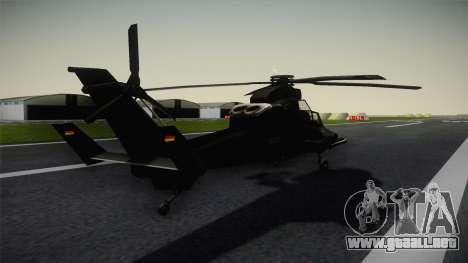 Eurocopter Tiger para GTA San Andreas vista posterior izquierda