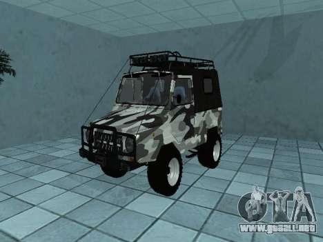 LUAZ 969М Invierno camo para GTA San Andreas