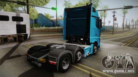 Mercedes-Benz Actros Mp4 6x2 v2.0 Gigaspace para GTA San Andreas left