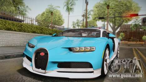 Bugatti Chiron 2017 para vista inferior GTA San Andreas