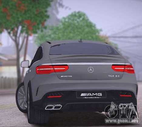 Mercedes-Benz GLE AMG para la visión correcta GTA San Andreas