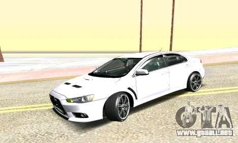 Mitsubishi Lancer para la visión correcta GTA San Andreas