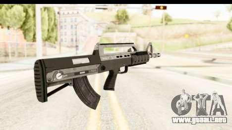 GTA 5 Hawk & Little Bullpup Rifle para GTA San Andreas segunda pantalla