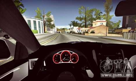 Subaru Impreza WRX STI Police para visión interna GTA San Andreas