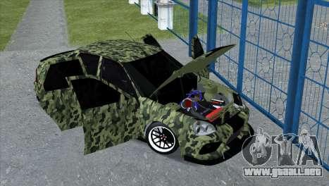Lada Priora Style para GTA San Andreas vista posterior izquierda