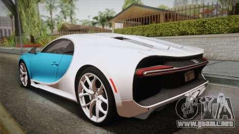 Bugatti Chiron 2017 para GTA San Andreas left