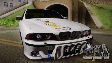 BMW M5 E39 Turbo King para GTA San Andreas vista posterior izquierda