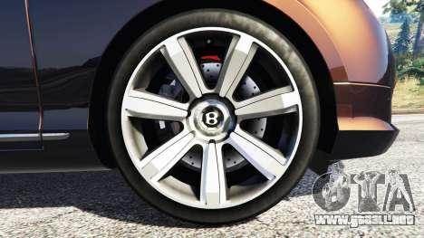 GTA 5 Bentley Continental GT 2012 [replace] vista lateral trasera derecha