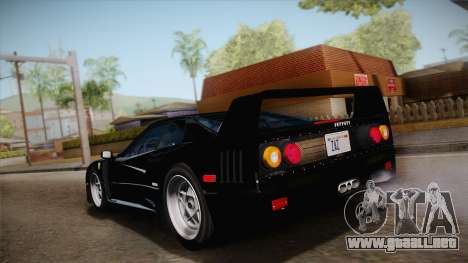 Ferrari F40 (US-Spec) 1989 IVF para GTA San Andreas left
