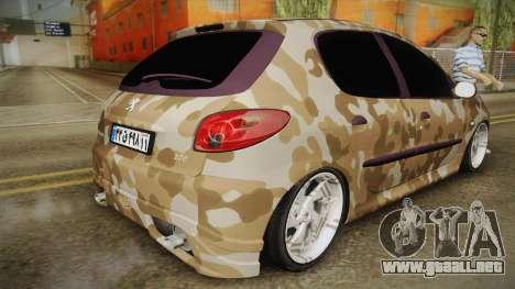Peugeot 206 Army para GTA San Andreas left