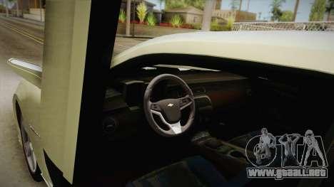 Chevrolet Camaro Synergy para visión interna GTA San Andreas