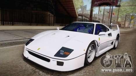 Ferrari F40 (EU-Spec) 1989 HQLM para GTA San Andreas