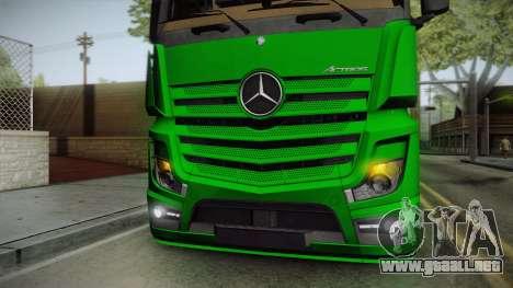 Mercedes-Benz Actros Mp4 6x2 v2.0 Bigspace para visión interna GTA San Andreas