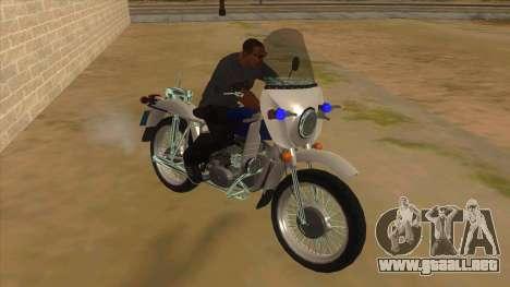 Ural De La Policía para GTA San Andreas vista hacia atrás