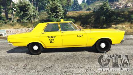 GTA 5 Plymouth Belvedere 1965 Taxi [replace] vista lateral izquierda
